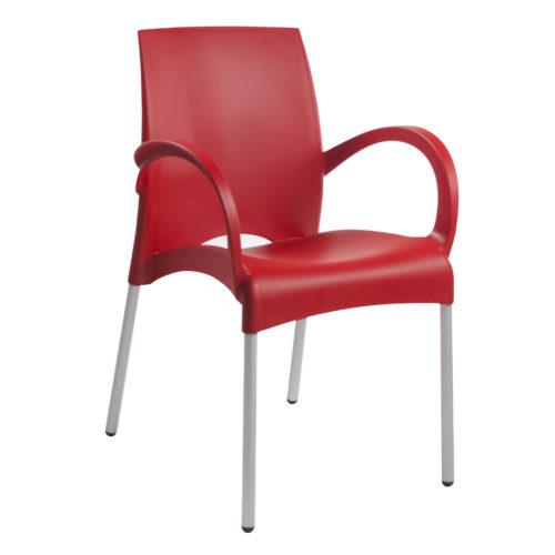 chaise-interieur-et-exterieurs-rouge