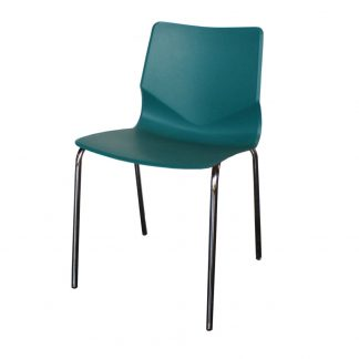 Chaise CCH-063 - Polypropylène - Métal - Bleu - Pattes - District W - St-Hyacinthe