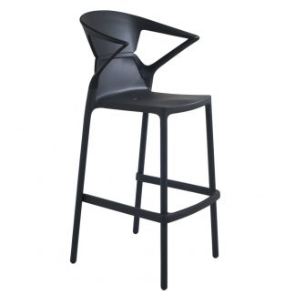 Tabouret EGO-K-BAR-09C-09C-42 - Noir- Base Noir-mat - Polypropylène - District W - St-Hyacinthe