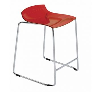 Tabouret X-TREME-SLED-29 - rouge transparent - Polypropylène - District W - St-Hyacinthe
