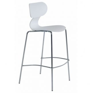 Tabouret YUGO-B - Blanc - Polypropylène - District W - St-Hyacinthe