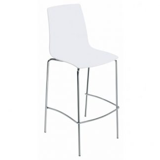 Tabouret x-treme-bsl-bar-43-blanc-mat - Base Chrome - Polypropylène - District W - St-Hyacinthe