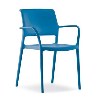 Chaise ARA avec bras - Polypropylène - bleu - District W - St-Hyacinthe