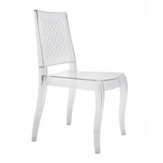 Chaise CLASS-XC - Polypropylène - blanc transparent - District W - St-Hyacinthe