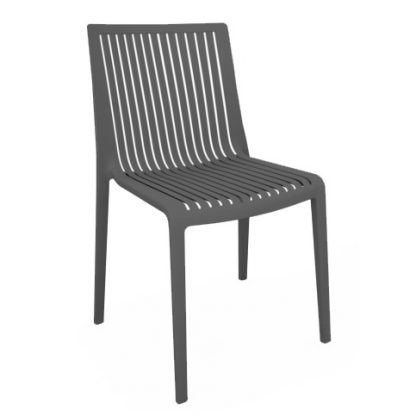 Chaise COOL - polypropylène - anthracite - District W - St-Hyacinthe