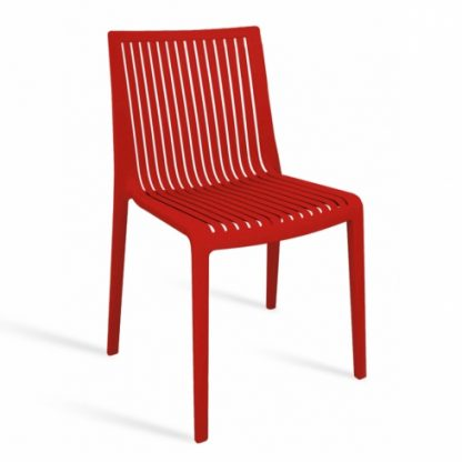 Chaise COOL - polypropylène - rouge - District W - St-Hyacinthe
