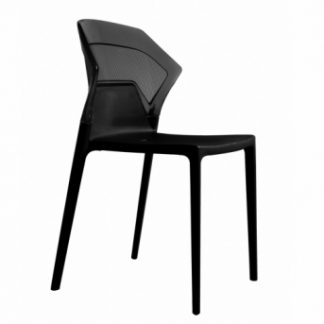 Chaise EGO-S - polypropylène - noir - District W - St-Hyacinthe