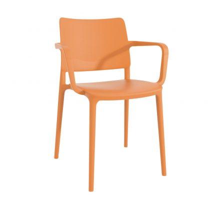 Chaise JOY-K - polypropylène - orange - District W - St-Hyacinthe