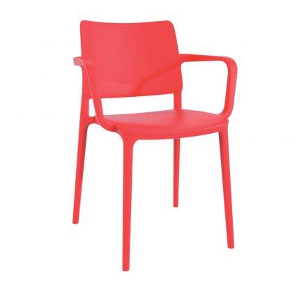 Chaise JOY-K - polypropylène - rouge - District W - St-Hyacinthe