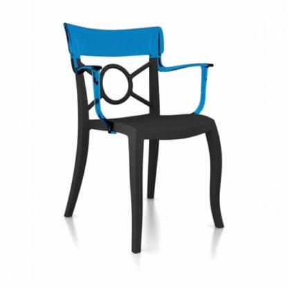 Chaise OPERA-K - Polypropylène - anthracite-mat - bleu transparent - District W - St-Hyacinthe