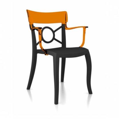 Chaise OPERA-K - Polypropylène - anthracite-mat - orange transparent - District W - St-Hyacinthe