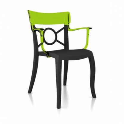 Chaise OPERA-K - Polypropylène - anthracite-mat - vert transparent - District W - St-Hyacinthe