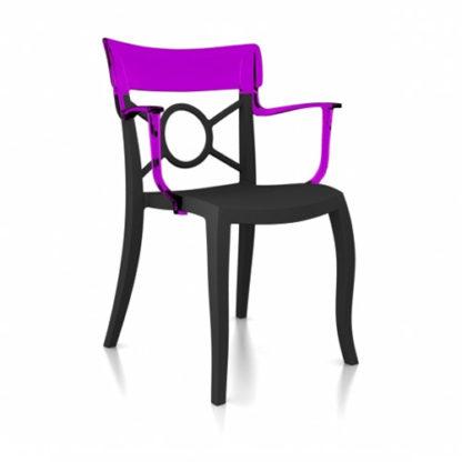 Chaise OPERA-K - Polypropylène - anthracite-mat - violet transparent - District W - St-Hyacinthe