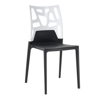 Chaise P13 - polypropylène - noir-mat - blanc-mat - District W - St-Hyacinthe