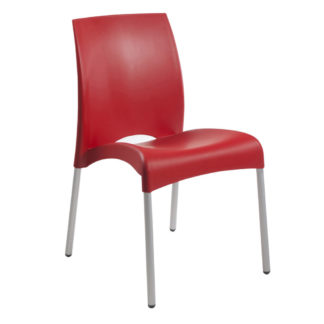 Chaise Vital-S - polypropylène - rouge - District W - St-Hyacinthe