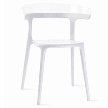 Chaise LUNA - polypropylène - blanc - blanc brillant - District W - St-Hyacinthe