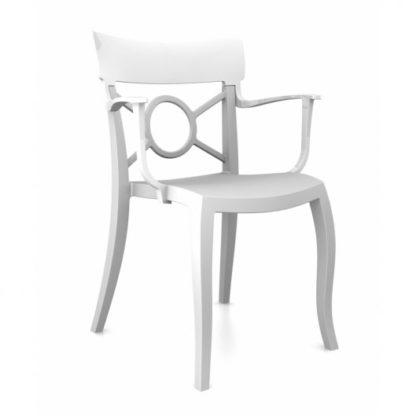 Chaise OPERA-K - Polypropylène - blanc-mat - blanc brillant - District W - St-Hyacinthe