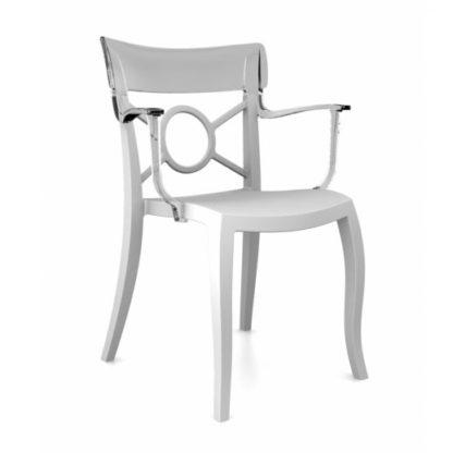 Chaise OPERA-K - Polypropylène - blanc-mat - blanc transparent - District W - St-Hyacinthe