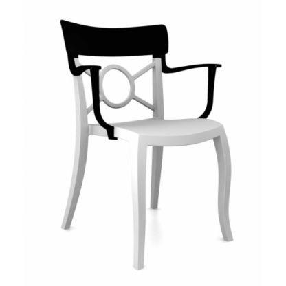 Chaise OPERA-K - Polypropylène - blanc-mat - noir brillant - District W - St-Hyacinthe
