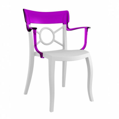 Chaise OPERA-K - Polypropylène - blanc-mat - violet transparent - District W - St-Hyacinthe
