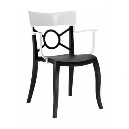 Chaise OPERA-K - Polypropylène - noir-mat - blanc brillant - District W - St-Hyacinthe