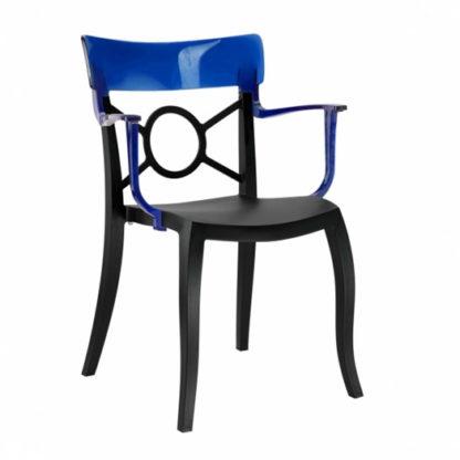 Chaise OPERA-K - Polypropylène - noir-mat - bleu transparent - District W - St-Hyacinthe