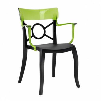 Chaise OPERA-K - Polypropylène - noir-mat - vert transparent - District W - St-Hyacinthe