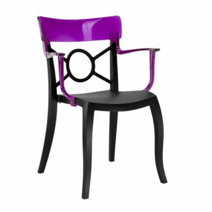 Chaise OPERA-K - Polypropylène - noir-mat - violet transparent - District W - St-Hyacinthe