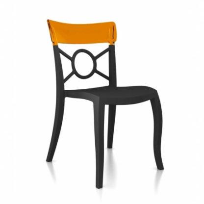 Chaise OPERA-S - Polypropylène - anthracite-mat - orange transparent - District W - St-Hyacinthe