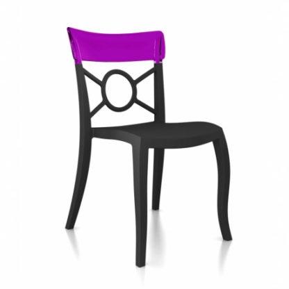 Chaise OPERA-S - Polypropylène - anthracite-mat - violet transparent - District W - St-Hyacinthe