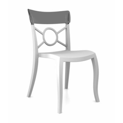 Chaise OPERA-S - Polypropylène - blanc-mat - smoke transparent - District W - St-Hyacinthe