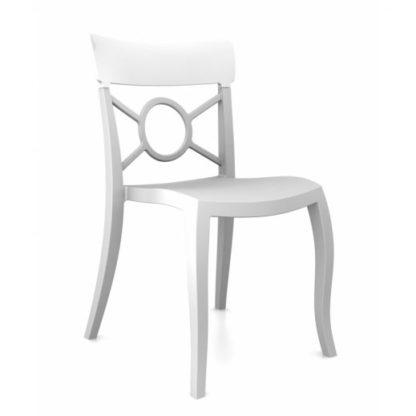 Chaise OPERA-S - Polypropylène - blanc-mat - blanc brillant - District W - St-Hyacinthe