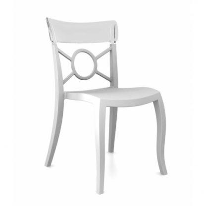 Chaise OPERA-S - Polypropylène - blanc-mat - blanc transparent - District W - St-Hyacinthe