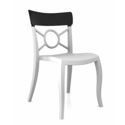 Chaise OPERA-S - Polypropylène - blanc-mat - noir brillant - District W - St-Hyacinthe