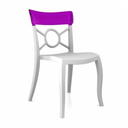 Chaise OPERA-S - Polypropylène - blanc-mat - violet transparent - District W - St-Hyacinthe