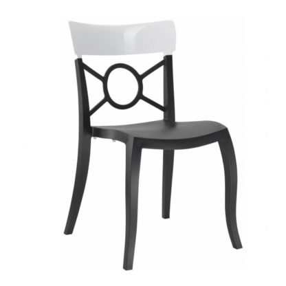 Chaise OPERA-S - Polypropylène - noir-mat - blanc brillant - District W - St-Hyacinthe
