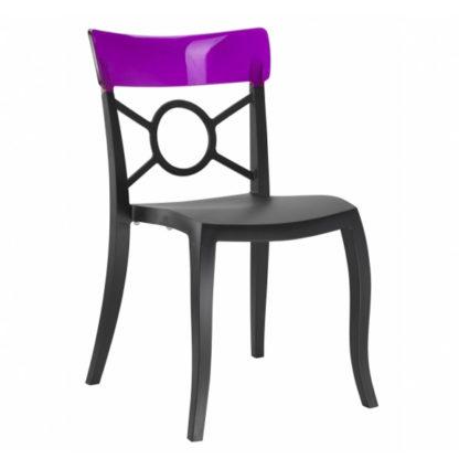 Chaise OPERA-S - Polypropylène - noir-mat - violet transparent - District W - St-Hyacinthe