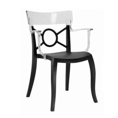 Chaise OPERA-K - Polypropylène - noir-mat - blanc transparent - District W - St-Hyacinthe