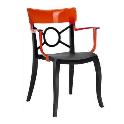 Chaise OPERA-K - Polypropylène - noir-mat - rouge transparent - District W - St-Hyacinthe