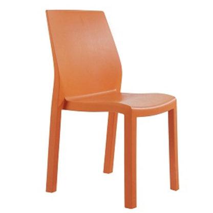 Chaise Yummy - polypropylène - orange - District W - St-Hyacinthe