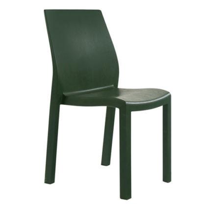 Chaise Yummy - polypropylène - vert foncé - District W - St-Hyacinthe