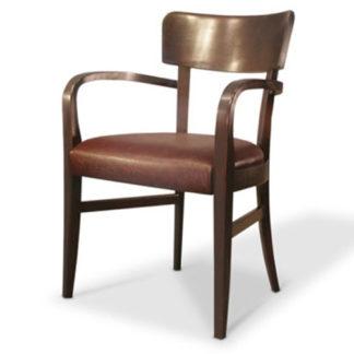 Chaise Madison avec bras - D40901 - Rembourrée - Bois - District W - St-Hyacinthe