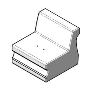 CURVA - module A - droit - SE.000 - dessin