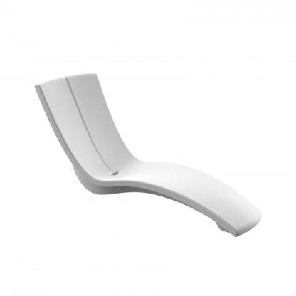 KURVE - chaise longue - CU.000.13 - blanc neige