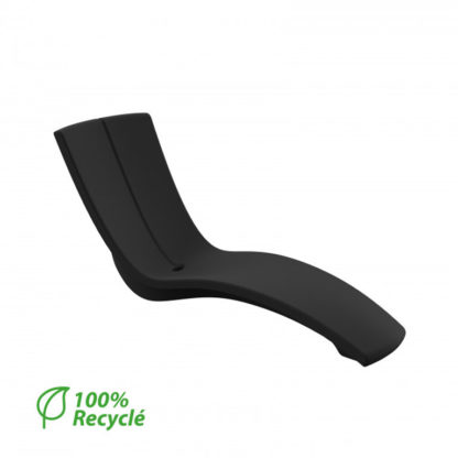 KURVE - chaise longue - CU.000.42 - noir