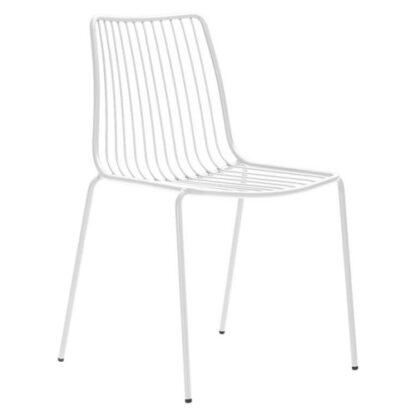 Chaise Nolita - Blanc BI - vue à 45 degrés - métal - District W - St-Hyacinthe