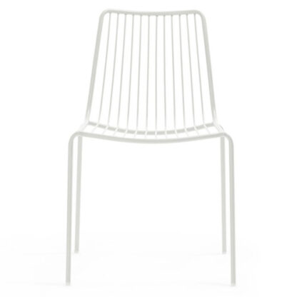 Chaise Nolita - Blanc BI - face - métal - District W - St-Hyacinthe
