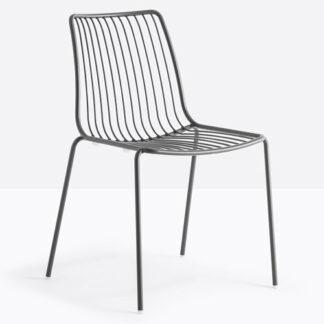 Chaise Nolita - Gris GA - vue à 45 degrés - métal - District W - St-Hyacinthe