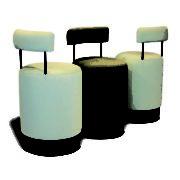 Chaises-métal-rembourrée